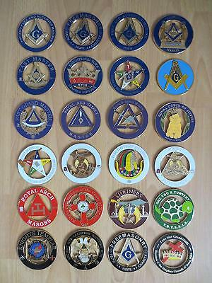 Wholesale 24 PCS different Masonic Auto Car Badge Emblems mason freemason
