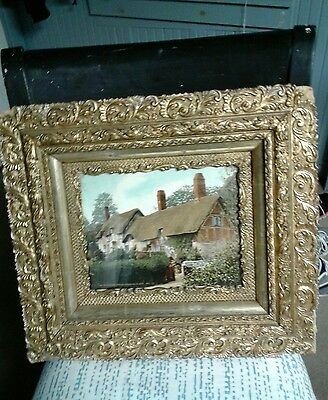 """Victorian Gesso Floral Gold Gilt Wooden Picture Frame 18""""By 16"""""""