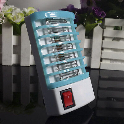 LED Night Lamp Electric Anti Mosquito Killer Zapper Fly Bug Insect Trap EU Plug