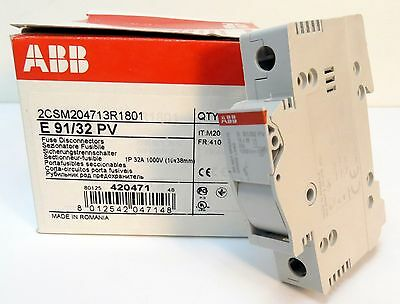 ABB E91/32 PVs Din Rail Fuse Holder 32 Amp Box of 6 NEW