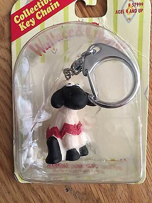 """NEW Wallace & Gromit """"Shawn the sheep"""" keychain RARE Sealed 5"""" Irwin #57999"""