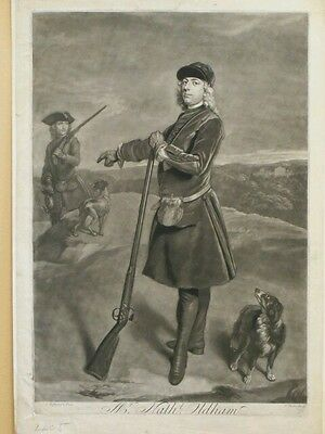 An 18th Century English Mezzotint - Middlesex 1730 Nathl Oldham
