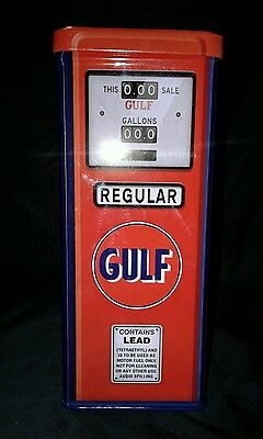 Gulf Gasoline Pump Reproduction Tin Open Road Brand
