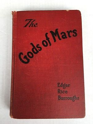 Edgar Rice Burroughs 1918 The Gods of Mars 1st Edition McClurg First Hardcover