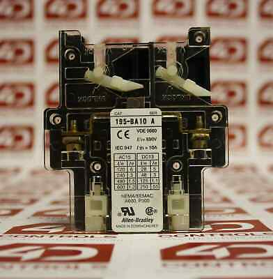 Allen Bradley 195-BA10 Auxiliary Contact 690V 10A - Used - Series A