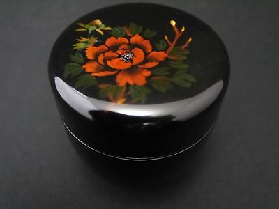 Japanese Traditional Lacquer Resin Tea Caddy Flower Makie Natsume (M7)