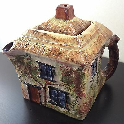 Handcrafted Bovey Tracey Art Pottery Teapot Square Country Cottage Devon England