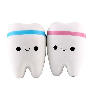 Fashion Soft Toys Cartoon Tooth Pendant Squishies Slow Rebound Cell Phone Straps