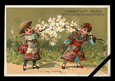 Original French Victorian Trade Card: Early 1900's Antique Advertising