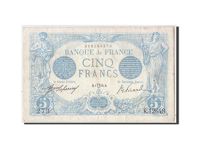 "[#309274] France, 5 Francs Bleu type 1905 ""Lion Inversé"""