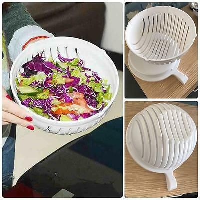 60 Second Salad Maker Cutter Bowl Slicer Vegetable Easy Washer Chopper Kitchen