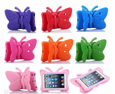 Butterfly Children Kids Rubber Shock Proof Stand EVA Foam Case Cover For iPad