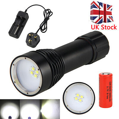 Waterproof 100m 4000LM 4xL2 LED Photograping Video Flashlight 26650 Torch Light