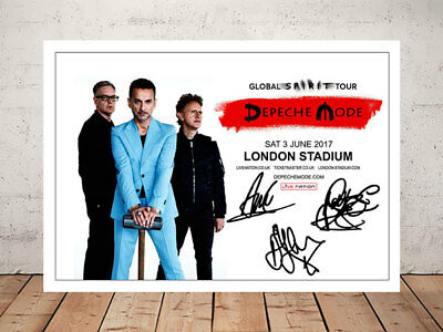 Depeche Mode Global Spirit 2017 Concert Flyer Autographed Photo Print