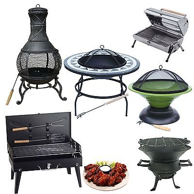 Large Barbecue Portable Grill Folding Fire Pit Cast Iron Charcoal Outdoor Heater