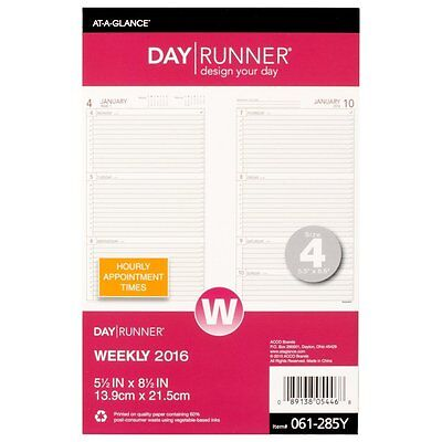 Day Runner Weekly Compact Desk Calendar Planner Refill 2016, 5.5 x 8.5 Inches 4