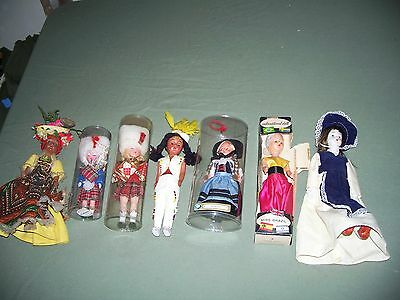 Vintage Lot of 7 Mixed Dolls International Style Plus 3 Sealed About 7 inch