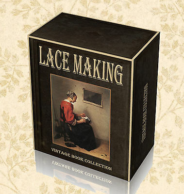 Antique Lace Making 150 Rare Books on DVD  Patterns Bobbin Crochet Collecting F0
