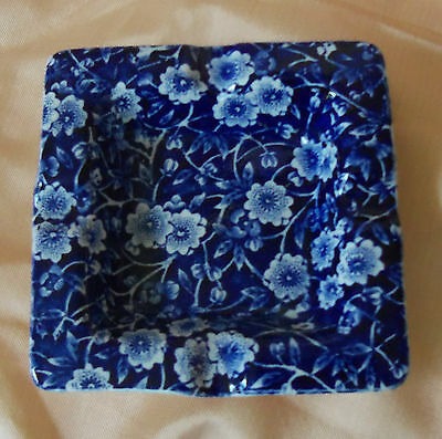 Blue Calico Staffordshire Crownford English Porcelain Small Tray