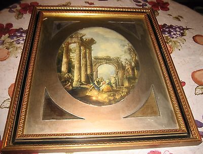 Wood Frame Convex Bubble Glass With Victorian Photo