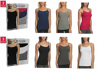 ⭐ NEW Ladies' Felina 3-Pack Cotton Stretch Camisole - VARIETY ⭐