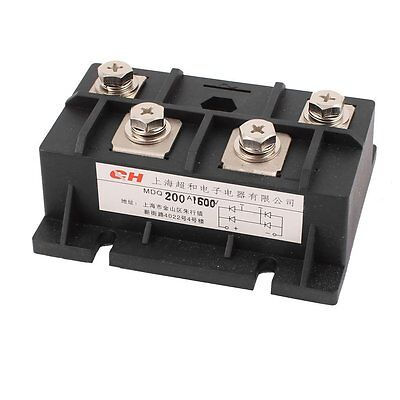 Uxcell Diode Module Single Phase Bridge Rectifier MDQ-200A, 200A, 1600V