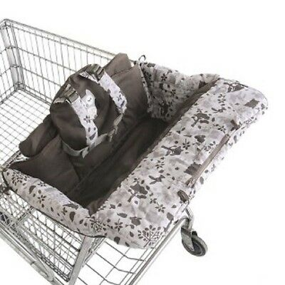 Eddie Bauer Baby Shopping Cart & High Chair Cover Brown Pink EUC