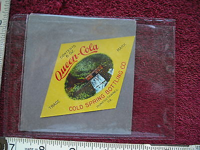 Queen Cola Vintage Soda Label - Cold Spring Bottling Company