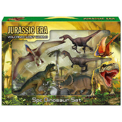 5Pc Piece Dinosaur Playset Toy Animals Action Figures Set T Rex Jurassic Park
