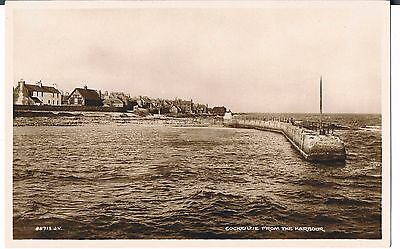 VALENTINES Postcard Cockenzie Pier From The Harbour 1938 Archibald Thompson PO