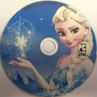 40 Frozen Embroidery Machine Designs On Cd Pes Format Files Download Version