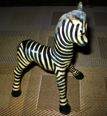 Vintage Goebel Porcelain Zebra Figurine- Marked G