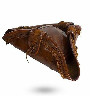 Leather Pirate Hat, Size S, M/L, XL, Brown, Full Grain, LARP, Cosplay, Theater