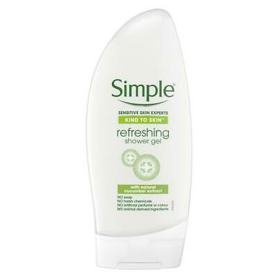 ** Simple Kind To Skin Refreshing Shower Gel 250Ml  New ** Cucumber Extract