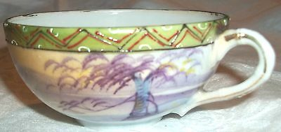 Antique Delicate Porcelain Hand Painted Oriental Style Tea Cup, Nippon?