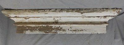 Large Antique Window Pediment Header Old Vintage Shabby Victorian Chic 243-17R