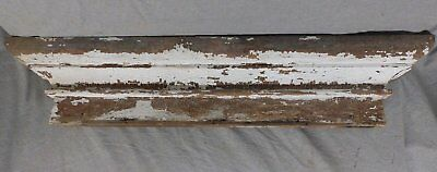 Large Antique Window Pediment Header Old Vintage Shabby Victorian Chic 245-17R