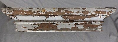 Large Antique Window Pediment Header Old Vintage Shabby Victorian Chic 250-17R