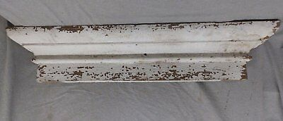 Large Antique Window Pediment Header Old Vintage Shabby Victorian Chic 251-17R