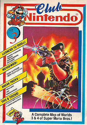 CLUB NINTENDO MAGAZINE No. 3 from 1989 UK edition