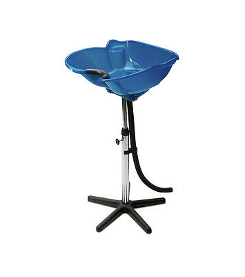 SIBEL Hairdressers Barbers Portable Mobile Tilting BACKWASH Basin BLUE