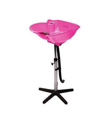 SIBEL Hairdressers Barbers Portable Mobile Tilting BACKWASH Basin PINK
