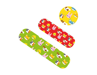 75 Assorted Children's Plasters Waterproof Flexible First Aid Band Plaster Kids