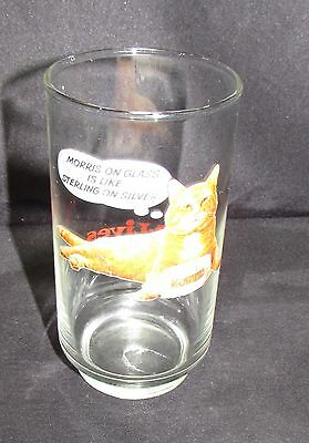 """Vintage 1980s Morris the Cat 9 Lives Promo Glass  """"IS  LIKE STERLING ON SILVER """""""