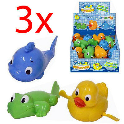 3 X Wind Up Swimming Duck Animal Toy Child Baby Kids Bath Time Clockwork Float