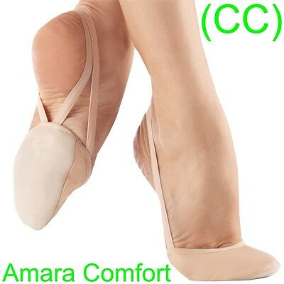 Rhythmic Shoes Toe Half Gymnastics Beige Nude Black Lyrical Dance New (CC)