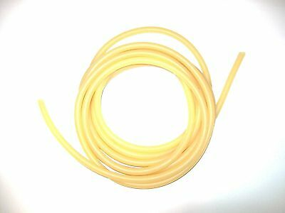 """3 foot cut 1/8"""" I.D x 1/32"""" wall x 3/16"""" O.D Surgical Latex Tubing Amber Rubber"""