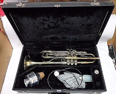 "DEG Trumpet Model ""Caravelle"" USA w/Hard Case & Extras ""FOR PARTS"" FREE SHIPPING"