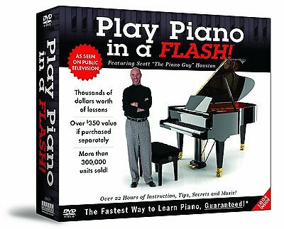 "Play Piano in a Flash Featuring Scott Houston ""The Piano Guy"" 12-DVD Set + New!!"
