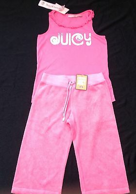 NWT Juicy Couture New & Gen. Girls Age 8 Pink Toweling Tracksuit Pants & T-Shirt